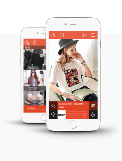 App-Design für Shopping-App