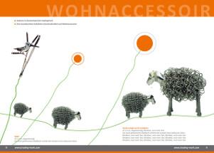 Design einer Produktbroschüre für Inneneinrichtungsdeko und Accessoires.