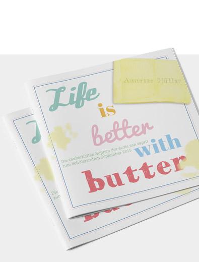 Broschüren-Design für Rezepte - Broschüren-Design Beispiel