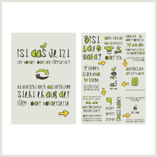 Lustiges Einladungskarten-Design für Feier gesucht
