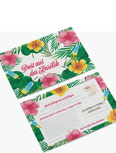 Einladungskartendesign für Sommerfest - Einladungskarten-Design Beispiel