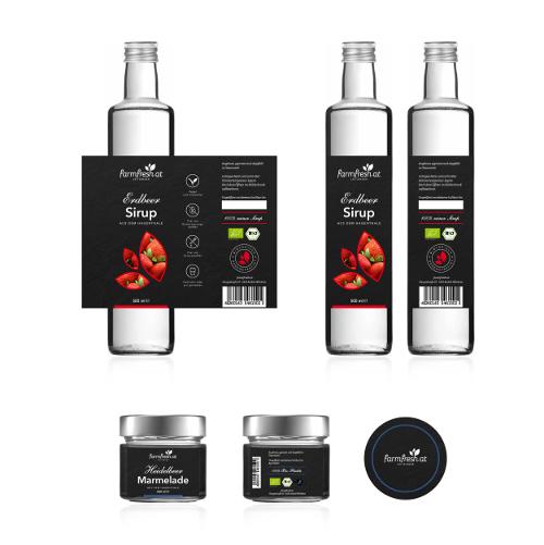 Etiketten-Gestaltung für Bio Produkte aus eigener Herstellung