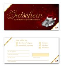 Gutschein-Design für eine Weihnachtsaktion