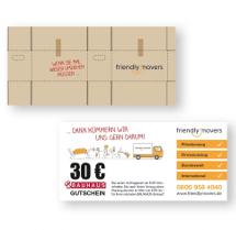 Gutschein-Design für Umzugsunternehmen