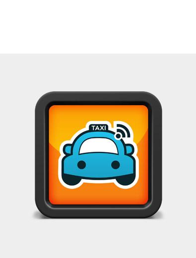 Icon-Design für Taxi-App - Icon-Design Beispiel