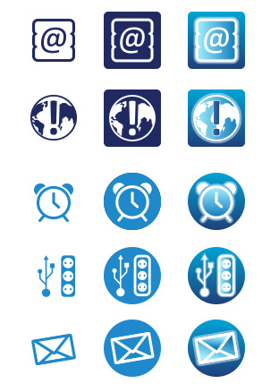 Icons für die Monitoring-Software