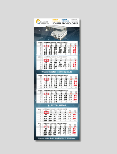 Merchandising Kalender - Merchandising-Design Beispiel