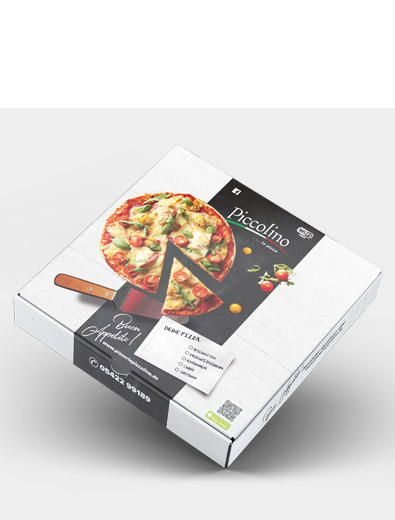 Verpackungsdesign für Pizzakarton - Verpackungsdesign Beispiel