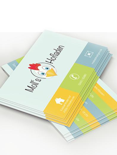 Visitenkartendesign für Hofladen - Visitenkarten-Design Beispiel