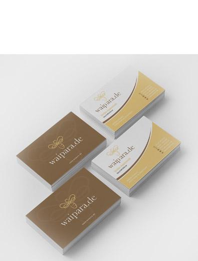 Visitenkartendesign für Honighersteller - Visitenkarten-Design Beispiel