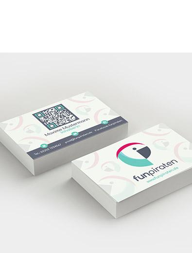 Visitenkartendesign für Internetportal - Visitenkarten-Design Beispiel