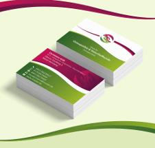 Visitenkarten-Design für Osteopathiepraxis