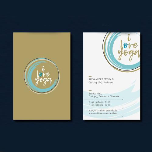 Visitenkarten-Design für Yoga-Lehrerin