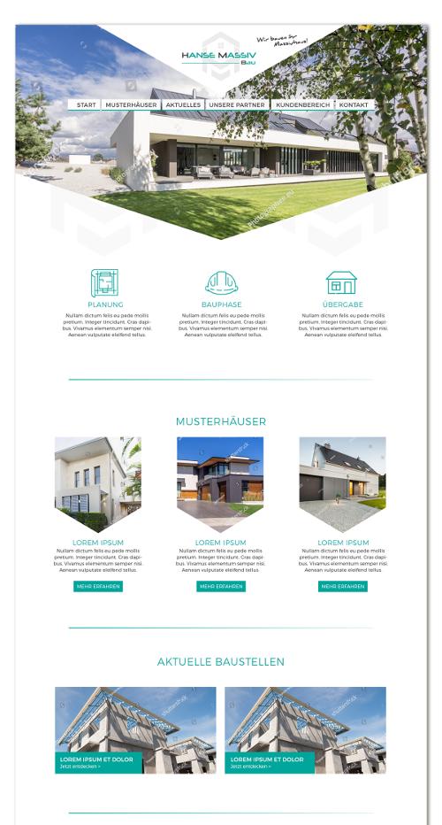 Bauunternehmen sucht Webdesign