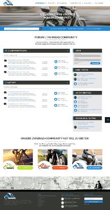 Template-Design für Community/ Forum zum Thema Fahrrad, Roller und Motorrad